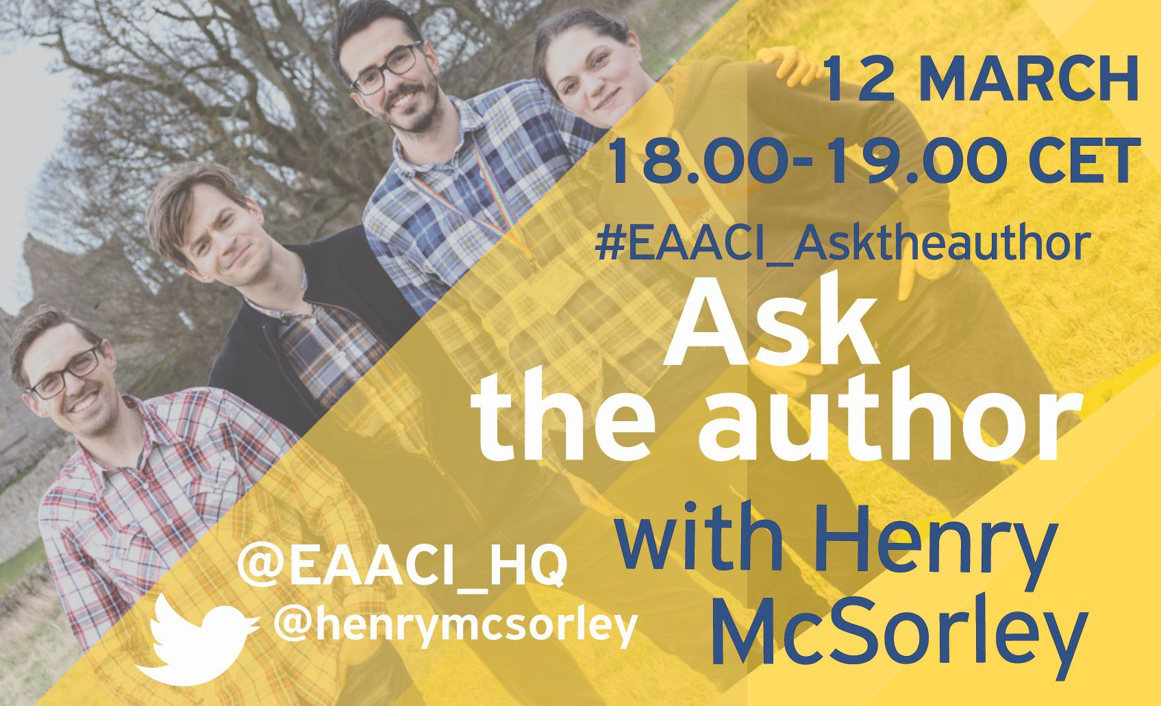 Ask the author - 12 MARCH 18.00 CET