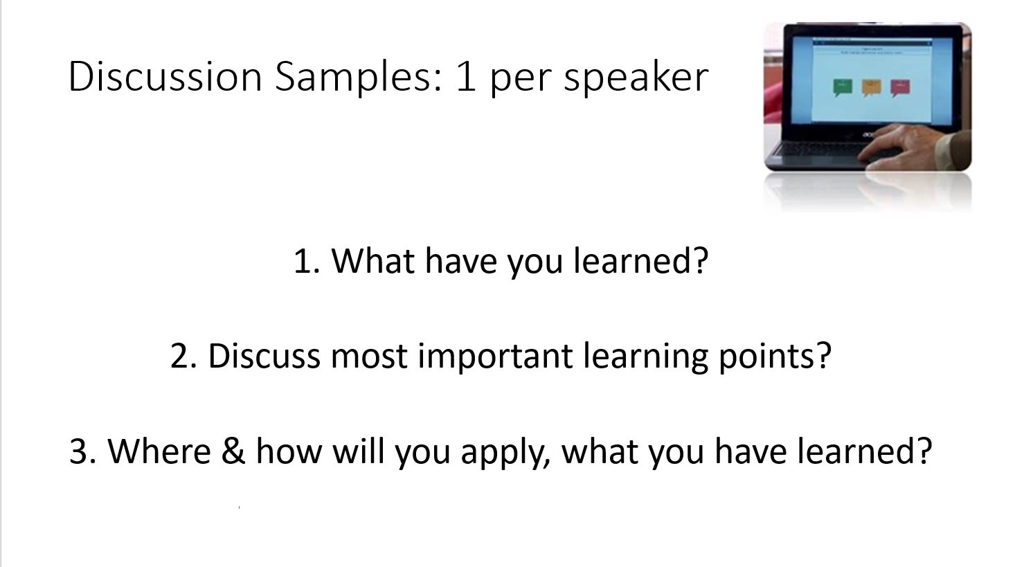 sample discussion ws