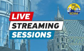 Unable to be there? Watch the livestreams from Vienna – each day we have a session ready for you